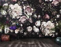 Ellie Cashman Design Dark Floral II Black Saturated XL ...