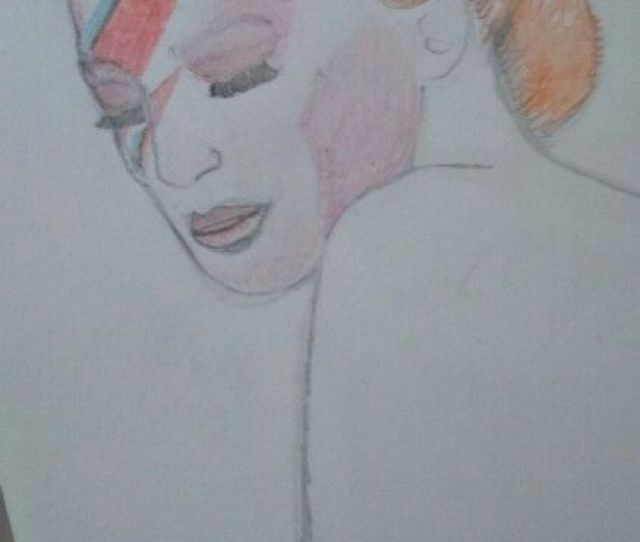 Aladdin Sane Design To A Plain Line Drawing