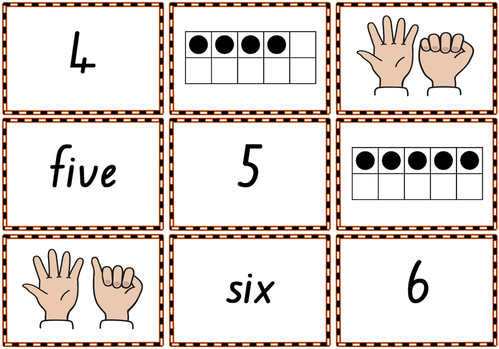 0 10 Memory Match Or Snap Game Cards To Practise Numbers Number Words Finger Patterns And Tens