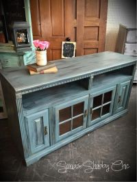 Shabby distressed TV stand! Always new painting tips, new ...