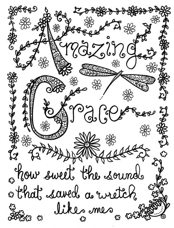 Hymn-Spirations Coloring Book Page Prayer Inspirational