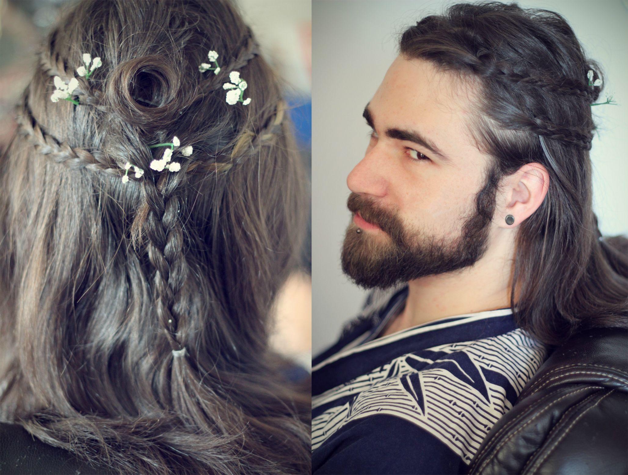 Men's Heroic Warrior Hairstyles – Gaelic Braids Gothic Samurai
