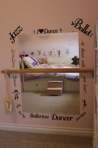 dance mirror and trnsfers made with the cricut. How I wish ...