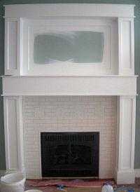 subway tile for the fireplace | living room | Pinterest ...