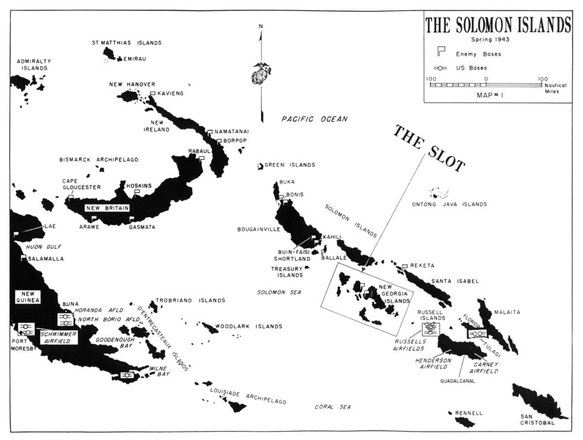 Solomon Islands Geography With The Landing Of The 1st