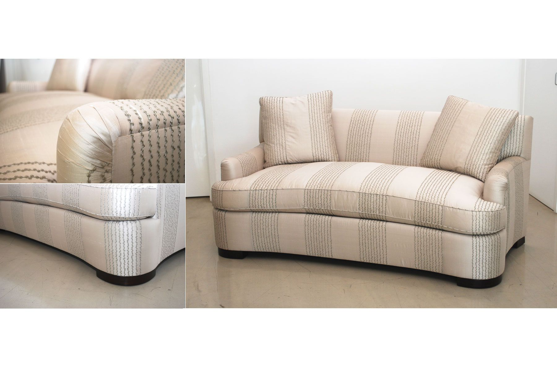 Leather And Cloth Sectional