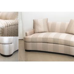 Circle Sectional Sofa Bed High Back Arm Circular Loveseat Curved Couch Small