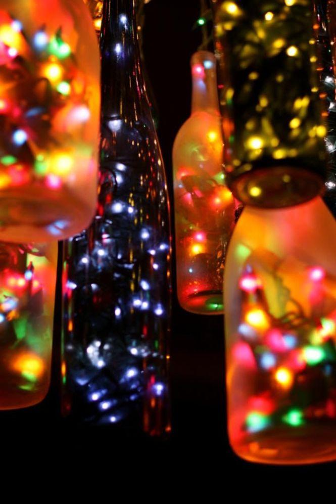 Diy Wine Bottle Light Outdoor Chandelierchandeliersoutdoor
