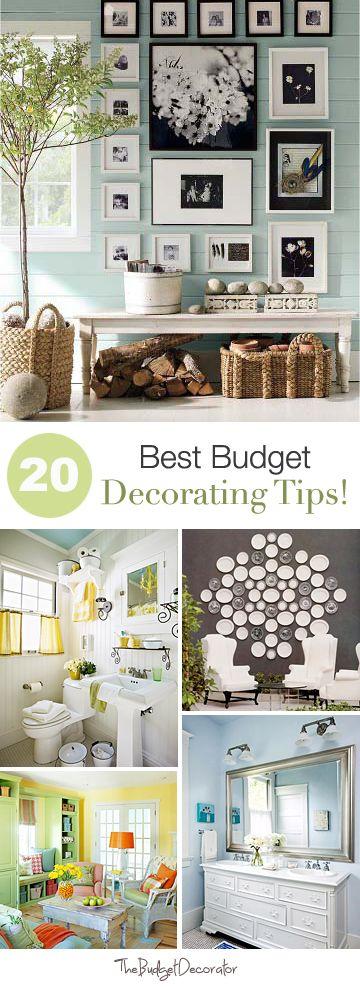 Budget Decorating on Pinterest  Budget Home Decorating