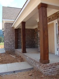 Wooden Porch Posts And Columns | The Rickety Brick House ...
