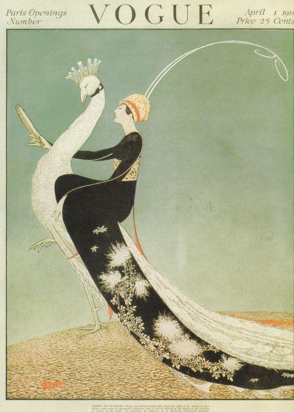 Art Deco Vogue Magazine Cover