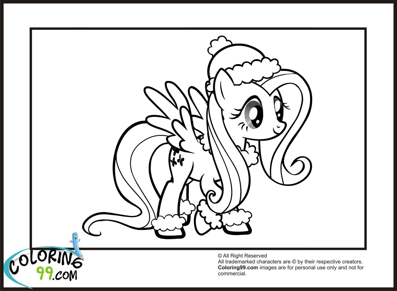 Coloring99 My Little Pony Fluttershy Coloring Pages