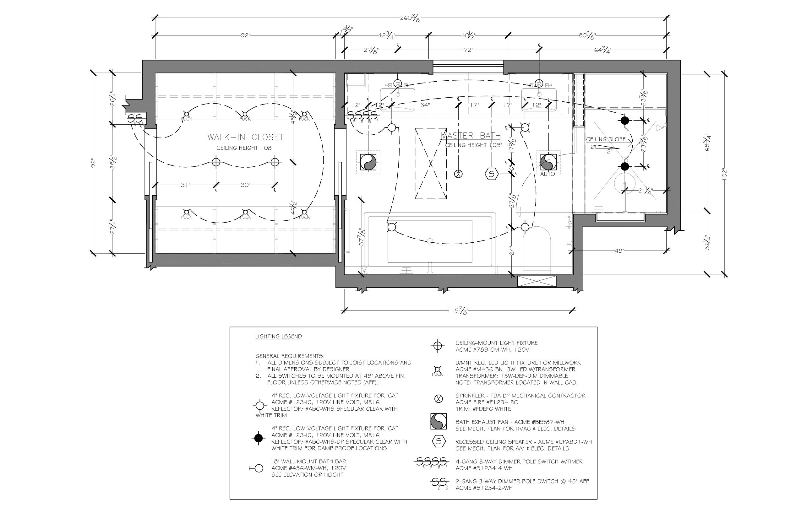 Bathroom Reflected Ceiling Plan Example