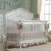 Angelina Convertible Crib Pearl Finish from PoshTots ...