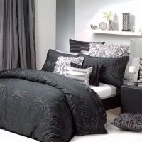 Black & Silver Quilt cover set