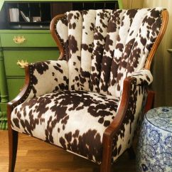 Cowhide Chairs Nz Lounge New Zealand We Are Utterly Smitten With How This Cow Print Fabric