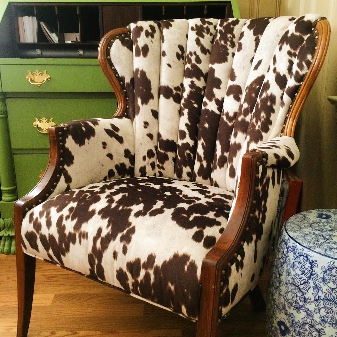 Cow Print Chair We Are Utterly Smitten With How This Cow Print Fabric