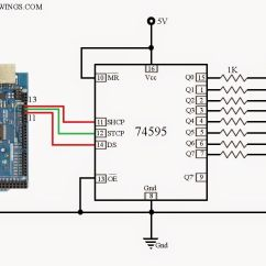 Dtmf Decoder Ic Mt8870 Pin Diagram Sankey Generator Easy Method To Control 74hc595 74hct595 Using Arduino