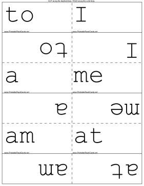 30 words children in kindergarten should know by sight
