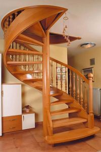 Interior: Smallest spiral staircase for narrow space ...