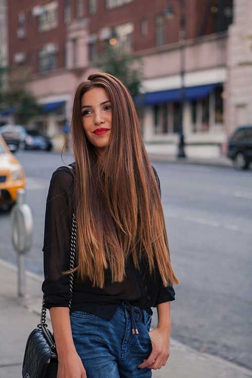 Long Straight Brown Hair Inspiratie BRUIN Pinterest Long