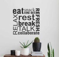 Break Room Word Collage | Wall Lettering | Vinyl Office ...