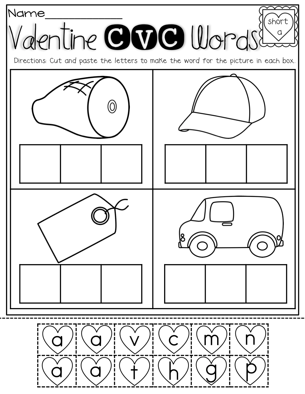 Free Printable Cut And Paste Worksheet For First Grade