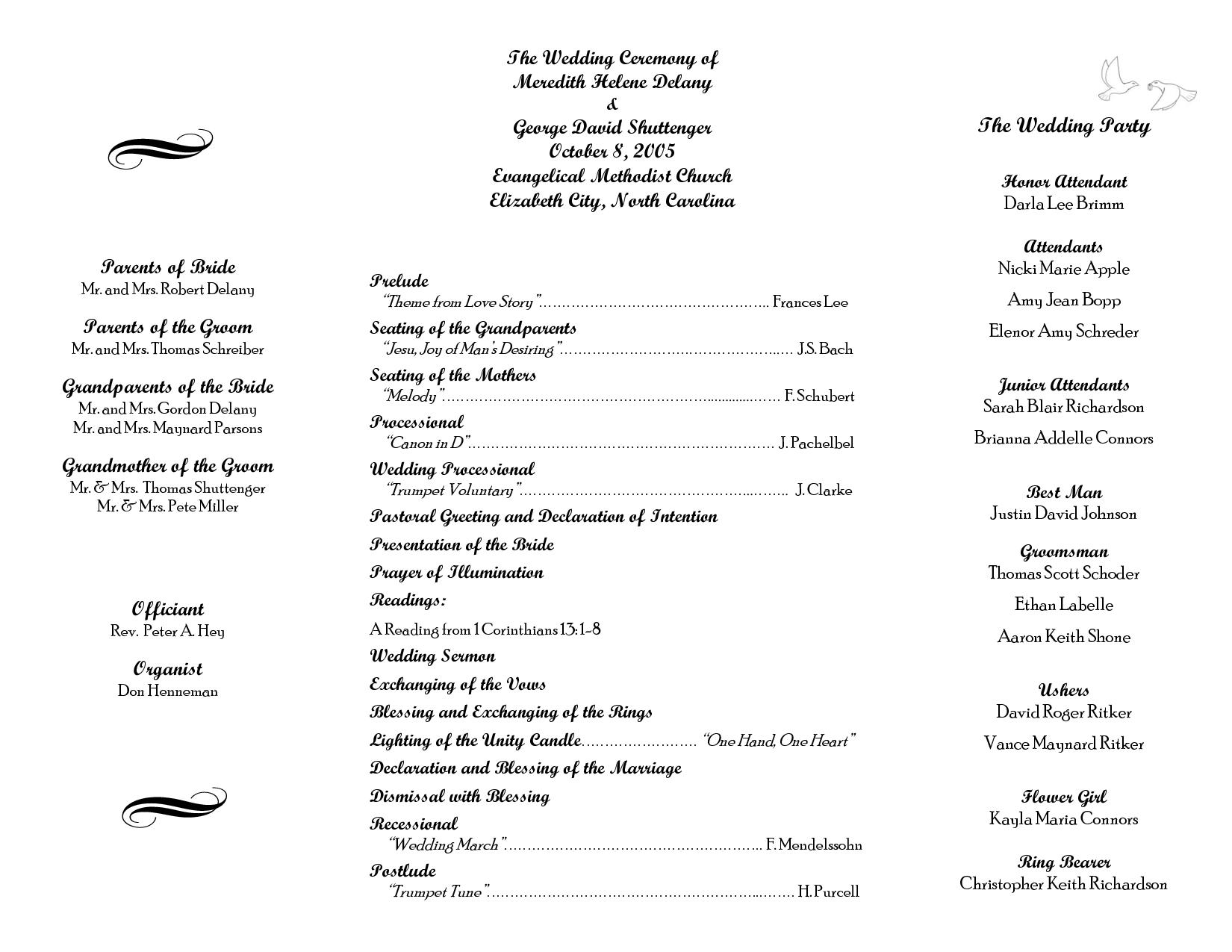Christian Wedding Ceremony Outline