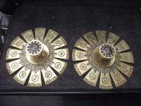 Mid Century Vintage Brass Door Knobs Set Zodiac 12 | eBay ...