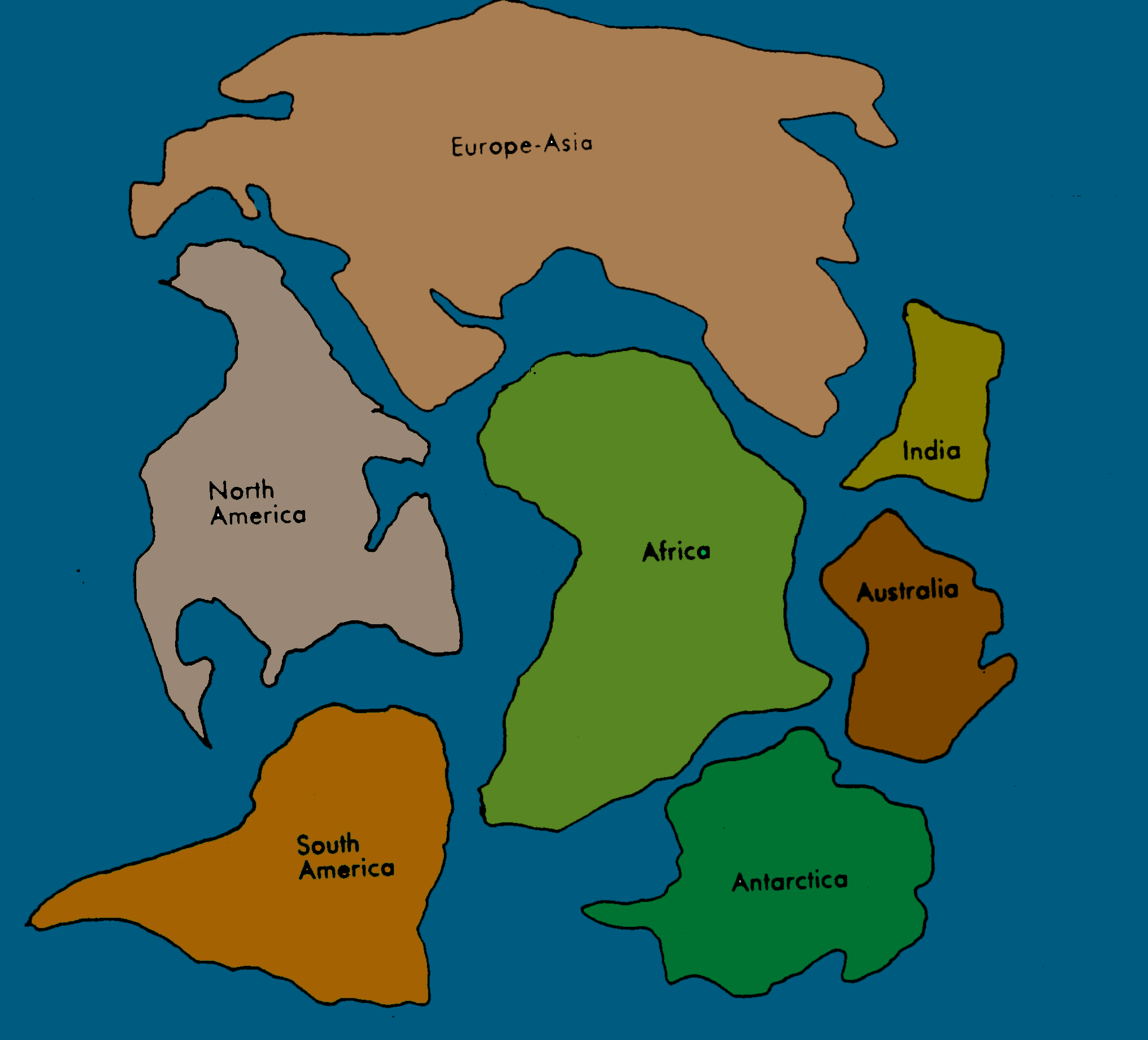 Pangea Map Puzzle