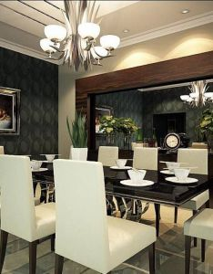 Dining room best decoration ideas also decor for formal designs black wallpaper and rh pinterest