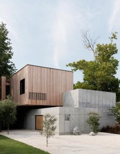 The concrete box house by robertson design  carefully choreographed entry sequence material clarity and also rh nz pinterest