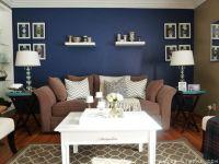 Navy Blue Walls Living Room - [peenmedia.com]