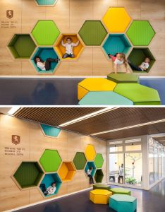 ideas for using hexagons in interior design and architecture this elementary school has also best images about arquitectura on pinterest rh