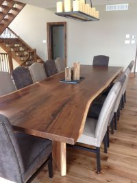8' Black Walnut Book Matched Table Dining Table Harvest ...