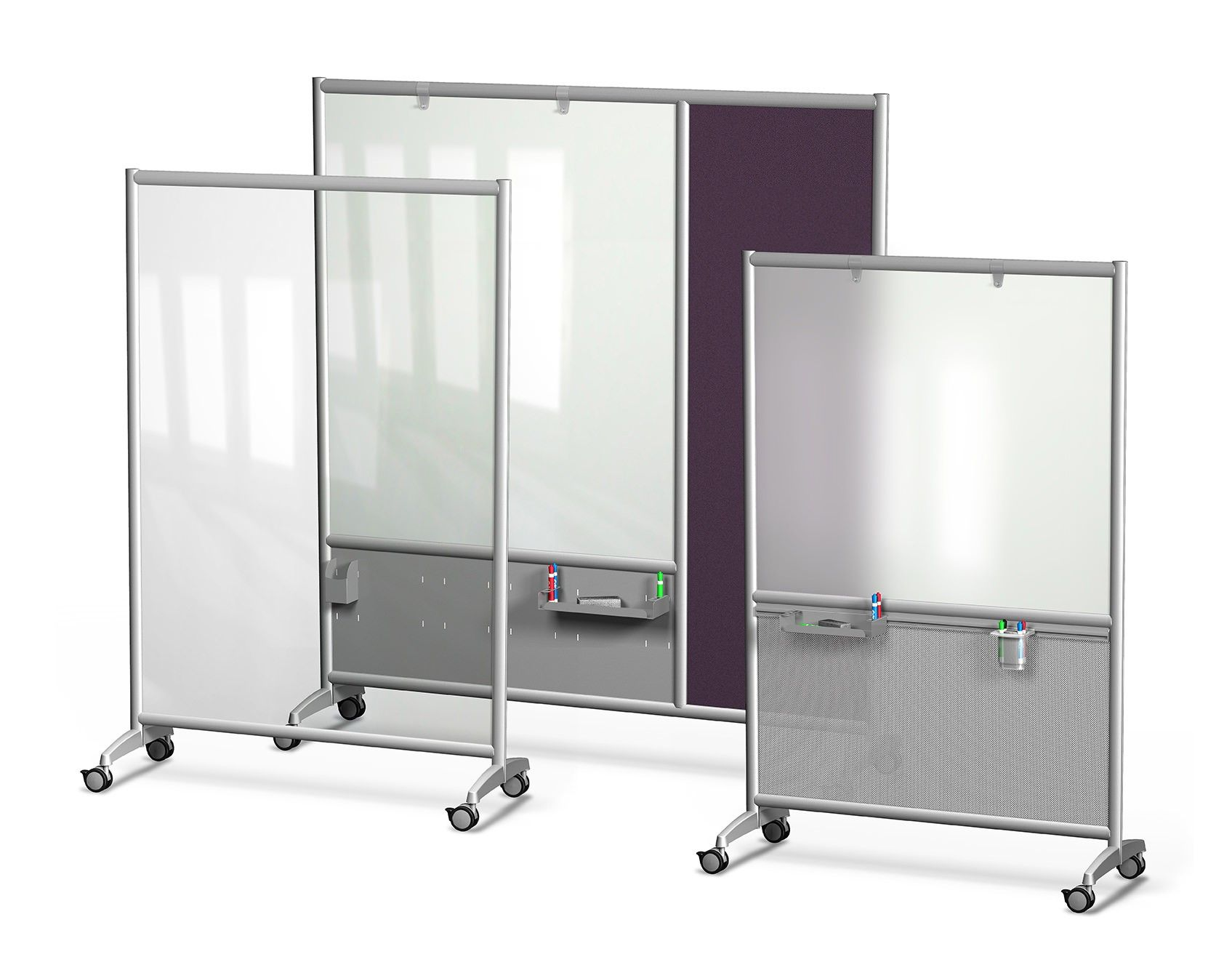 Mobile Glass Dry Erase Boards