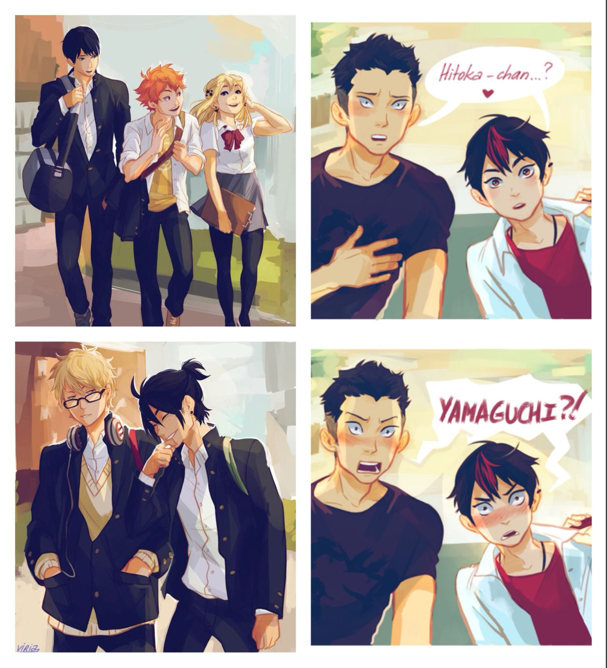 Older first year karasuno team haikyuu characters AU