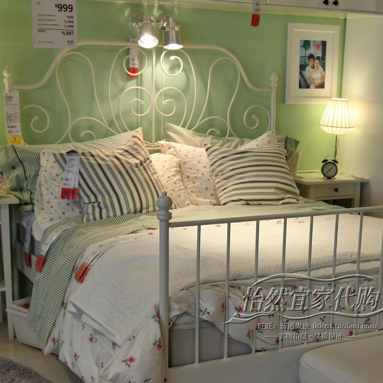 Ikea White Metal Bed Frame Dco Chambre Pinterest