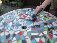 How To Design Mosaic Table Top with Ceramic Tiles | Mosaics