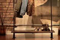Industrial Reclaimed Wood and Pipe Coat Rack by logandiron ...