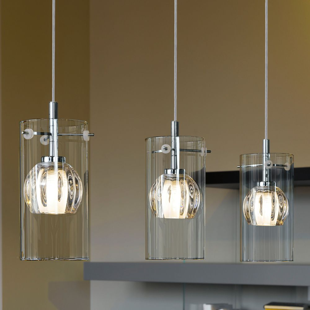 Eglo (93103) Ricabo Triple Transparent and Satinated Glass