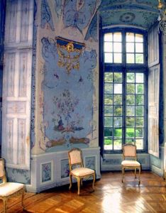The room is pure louis xv in style with walls painted blue and decorated chinoiserie decor also beautiful old french country house intricate parquet floors rh pinterest