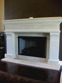 White precast concrete fireplace surround | www ...