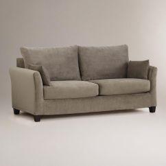 Gray Velvet Slipcover Sofa Tidafors Corner Assembly Instructions Luxe Mink Brown Loose Fit