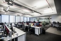WSP office Modern design, open ceiling, industrial ...