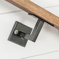 "Minimal Handrail Bracket - 1/2"" Solid Steel Square Bar ..."
