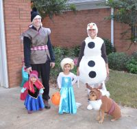 Family costume frozen, elsa, olaf, anna, kristoff and sven ...