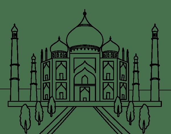 Taj Mahal, localizado na Índia é uma das 7 maravilhas do