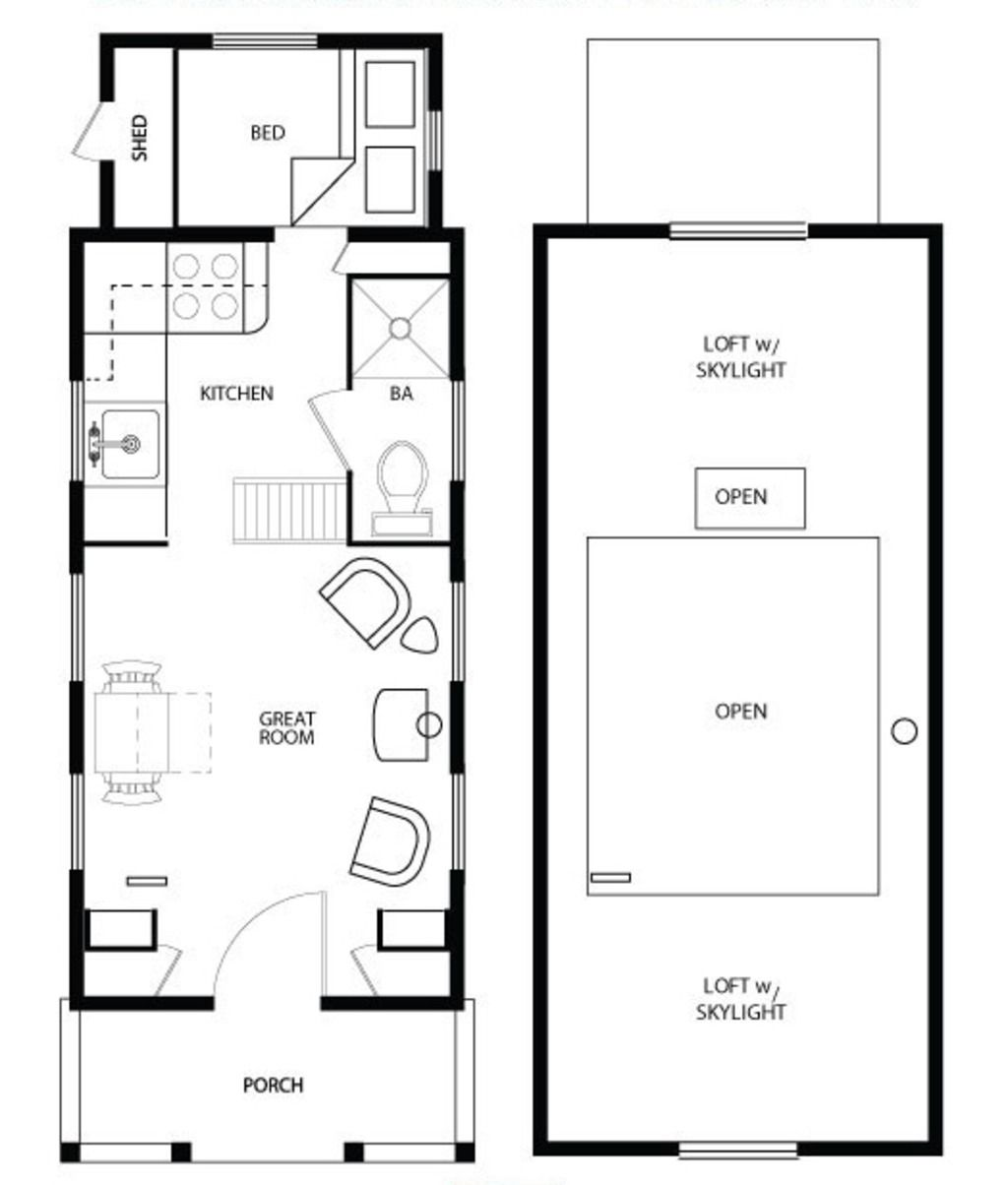 Main Floor Plan Four Lights Tiny House Plans Pinterest