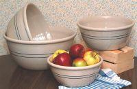 Heritage Blue Stripe Stoneware Mixing Bowls - Set of 4 ...